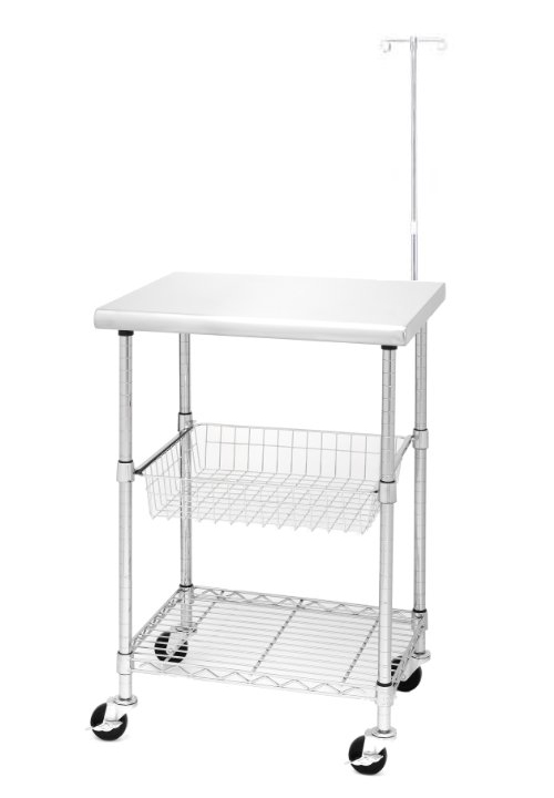 medical cart with IV