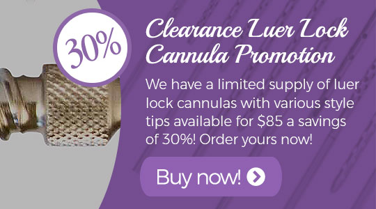 Clearance Luer Lock Cannula Promotion