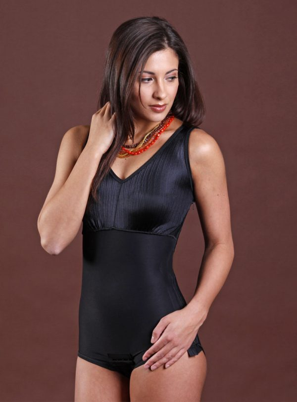 Black Panty Style Full Body Suit_front